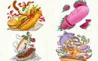 Bộ tranh tôn vinh các thể loại bánh mì Việt Nam đang được nhấn nút share kịch liệt, dân mạng không khỏi tự hào về đặc sản nước nhà