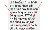 Chánh Văn phòng Bộ Y tế cảnh báo về dịch Covid-19 ở Hà Nội: Chỉ là tin giả