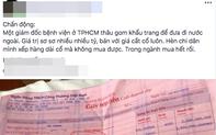 Đình chỉ Giám đốc bệnh viện quận Gò Vấp sau khi bị tố thu gom khẩu trang bán kiếm lời
