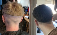 Sợ bạn gái ở nhà mùa dịch buồn chán, các chàng trai nghĩ ra trò nhờ người yêu cắt tóc rồi nhận kết quả không thể buồn... cười hơn