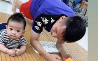 Ở nhà rảnh rỗi, tuyển thủ Việt Nam tranh thủ dạy con trai... tập plank: Có khác gì bố con nhà Ronaldo đâu