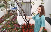 """Ca sĩ Nguyễn Ngọc Anh """"trốn"""" Covid-19 trong khu vườn đầy hoa"""