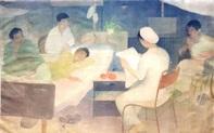 """Bảo tàng Mỹ thuật Việt Nam giới thiệu tác phẩm """"Đọc báo cho thương binh"""""""