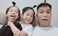 """Thấy con ở nhà tránh dịch chẳng có gì chơi, ông bố rủ 2 cậu ấm quay clip hài """"đau ruột"""", tình cảm bố con """"đi lên"""" thấy rõ"""