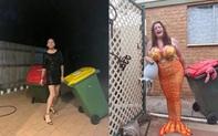Phải ở nhà né dịch, dân Úc tranh thủ mở show diễn thời trang khi ra ngoài đổ rác