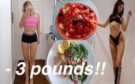 Theo chế độ ăn của các thiên thần Victoria's Secret, nàng vlogger giảm được 1,3kg trong 1 tuần mà không cần tập luyện