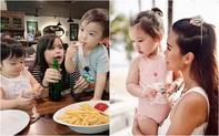 """Tết Thiếu nhi 1/6 của các hot kid: Hằng Túi dắt cả đàn con đi ăn, bé Myla """"lạnh lùng"""" đầy thần thái đi chụp mẫu cùng mẹ"""