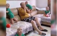 Được khuyên sinh con tiếp đi, ông bố khóc ròng úp tay vào mặt, nhìn cảnh tượng xung quanh thì ai cũng hiểu vì sao