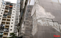 Cận cảnh khu tái định cư đang xuống cấp nghiêm trọng ở Hà Nội