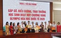 Hải Phòng khen thưởng học sinh đoạt Huy chương Vàng Olympic Hóa học quốc tế 2020