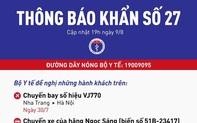 Khẩn: Tìm người trên chuyến bay VJ770 từ Nha Trang về Hà Nội
