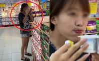 Lại thêm một cô gái thiếu tế nhị, thừa vô duyên, tự tiện bóc cả vỉ sữa chua ở siêu thị để liếm mút, lời ngụy biện của nàng ta càng phẫn nộ làm sao!