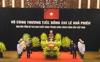 Những dòng tiễn biệt của Lãnh đạo Đảng, Nhà nước bày tỏ với nguyên Tổng Bí thư Lê Khả Phiêu