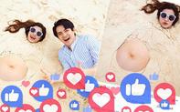 """Ảnh Đông Nhi khoe bụng bầu cán mốc 1 triệu like, xô đổ kỷ lục của nữ ca sĩ trên Facebook: """"Thế lực nhí"""" đáng gờm quá!"""