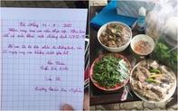 """Túi thịt vịt ấm nóng và bức thư tay xúc động của bé Nhân 8 tuổi gửi đội dân quân khu cách ly Đà Nẵng: """"Chú ăn để có sức khỏe chống dịch Covid-19!"""""""