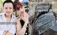 """Mừng nhà mới, cô dâu 63 tuổi ở Cao Bằng dựng hẳn bia đá khắc tên hai vợ chồng khiến dân mạng choáng váng vì cho là """"điềm gở"""""""