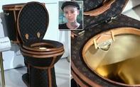 Chiêm ngưỡng bồn cầu mạ vàng bọc da Louis Vuitton sang chảnh, tổng trị giá 2,3 tỷ đồng