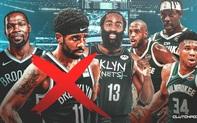 Lý do nào khiến Kyrie Irving chưa thể trở lại thi đấu cùng Kevin Durant và James Harden?