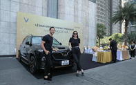 Tin tưởng thương hiệu xe Việt, Hà Hồ - Kim Lý mua liền 5 chiếc VinFast làm quà tặng người thân