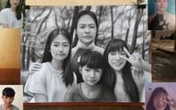 """Câu chuyện đằng sau bức tranh ghép 4 mẹ con ai xem cũng rung động được tiết lộ từ cây vẽ truyền thần có cuộc sống """"lạ"""""""