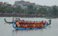 Phú Thọ: Sôi nổi cuộc đua bơi chải trên hồ Công viên văn lang dịp Giỗ Tổ Hùng Vương 2021