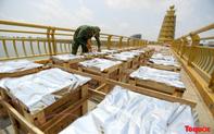 Cận cảnh trận địa pháo hoa kỷ niệm lễ Giỗ tổ Hùng Vương