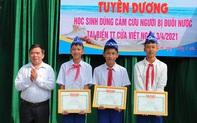Tuyên dương ba học sinh lớp 8 dũng cảm cứu người đuối nước