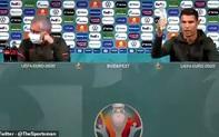 """UEFA """"doạ phạt"""" Ronaldo vì vụ ghẻ lạnh chai nước triệu người mê, đồng nghiệp đổ xô vào giễu cợt"""
