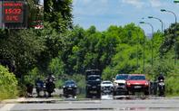 Đường phố Hà Nội xuất hiện ảo ảnh khi nhiệt độ ngoài trời hơn 50 độ C