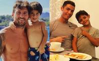 """Con trai Messi là fan cứng của Ronaldo, còn con trai Ronaldo lại thần tượng Messi: Bố nhà người ta bao giờ cũng """"cool ngầu"""" hơn bố mình?"""