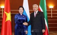 Chủ tịch Quốc hội gặp Chủ tịch Hội đồng Nhà nước Tatarstan, Liên bang Nga
