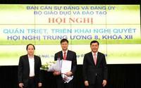 Thứ trưởng Lê Hải An tham gia Ban Thường vụ và giữ chức Bí thư Đảng ủy Bộ Giáo dục và Đào tạo