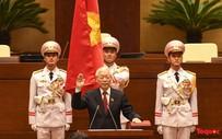 Những hình ảnh ấn tượng nhất trong lễ tuyên thệ nhậm chức của Chủ tịch nước Nguyễn Phú Trọng