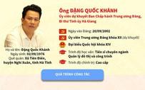 [Infographics] Tân Bí thư Tỉnh ủy Hà Giang Đặng Quốc Khánh