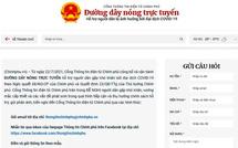 Đường dây nóng trực tuyến hỗ trợ người dân gặp khó khăn bởi đại dịch COVID-19 theo Nghị quyết 68 của Chính phủ
