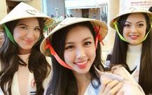 Quay clip nói 6 thứ tiếng, Nguyễn Thúc Thùy Tiên gây bất ngờ với khả năng ngoại ngữ tại Hoa hậu Quốc tế 2018