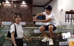 """Nổi tiếng chiều vợ nhất nhì showbiz, Trường Giang tự tay bắt hải sản cho Nhã Phương ăn nhưng vẫn phải """"cà khịa"""" thế này"""