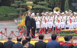 Tổng Bí thư, Chủ tịch nước Nguyễn Phú Trọng chủ trì lễ đón Tổng thống Argentina Mauricio Macri