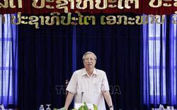 Thường trực Ban Bí thư Trần Quốc Vượng thăm và làm việc tại tỉnh Vientiane