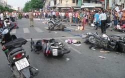 """11 người bị thương vì xe tải """"mất phanh""""  tông 8 xe máy trên đường"""