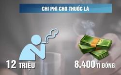 Mỗi năm 40.000 người Việt chết vì hút thuốc lá