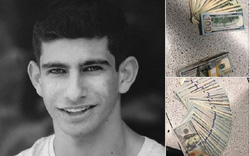 Nam sinh nộp cho cảnh sát ví tiền nhặt được bên trong có gần 233 triệu đồng