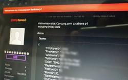 Dữ liệu Concung cùng FPT Shop đang bị hacker