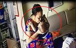 Clip: Giúp việc nhổ nước bọt vào miệng em bé khiến cư dân mạng