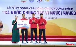 Hình ảnh từng thành viên Đội tuyển Bóng đá Việt Nam nhắn tin ủng hộ Vì người nghèo