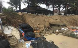 """Nhiều chủ nhà hàng """"đứng ngồi không yên"""" vì bờ biển Cửa Đại sạt lở nghiêm trọng"""