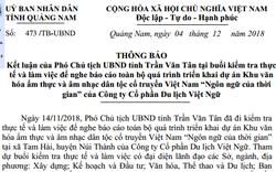 Rà soát lại dự án Khu văn hóa ẩm thực và âm nhạc dân tộc cổ truyền Việt Nam