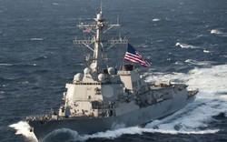 Mỹ bất ngờ khai màn tàu chiến qua eo biển Đài Loan