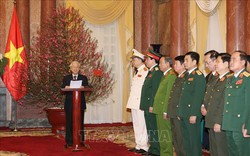 Tổng Bí thư, Chủ tịch nước Nguyễn Phú Trọng trao quyết định thăng quân hàm 2 Đại tướng Quân đội nhân dân và Công an nhân dân