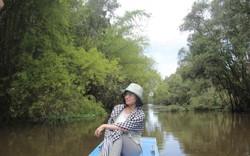 Vào rừng tràm Trà Sư, mục sở thị cây cầu tình yêu bằng gỗ có một không hai tại Việt Nam